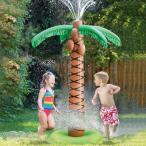 プール 家庭用 水遊び おもちゃ 遊具 噴水 シャワー 膨らませる ヤシの木 パームツリー スプリンクラー トロピカル