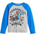 マリオカート スーパーマリオ Tシャツ 長袖 服 子供服 マリオ  レーサー レース 男の子