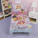 パウパトロール シーツ 布団 枕カバー  女の子 寝具 4点セット 洗える リバーシブル 幼児向け 子供用寝具 子供部屋 インテリア グッズ