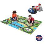 パウパトロール おもちゃ プレイマット 道路 キャラクターミニカー 車 遊べる ラグ 155x119cm 耐水性 耐久性 防汚性 子供部屋 おしゃれ じゅうたん