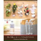 【2本分】【クリスマス】【8%OFF】ハーバリウムお試しキット(オイル1本、ガラス瓶2本、花材セット2種類)