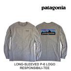 PATAGONIA パタゴニア Tシャツ LONG-SLEEVED P-6 LOGO RESPONSIBILI-TEE GLH GRAVEL HEATHER 39161