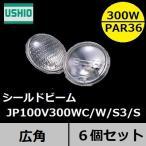 ウシオ シールドビーム JP100V300WC/W/S3/S PAR36タイプ 広角 口金SCREW(ネジ付端子)  6個入