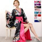 豪華ビジュー花魁ロング着物ドレス 和柄 衣装 ダンス よさこい 花魁 コスプレ キャバドレス