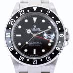ロレックス GMTマスターll スティックダイアル 16710 D番 AT SS ブラックダイヤル デイト メンズ 腕時計 アクトワン
