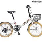 折りたたみ自転車 Volkswagen (フォルクスワーゲン) VW-206G  Beetle/ W...