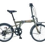 折りたたみ自転車 JEEP (ジープ)JE-206G / OLIVE