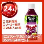ミニッツメイド カシス グレープ 350ml 24本 (24本×1ケース) フルーツジュース 果汁100%ジュース ペットボトル PET【日本全国送料無料】