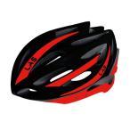 LAS VICTORY サイクリング ヘルメット (ブラック/レッド) ラス ビクトリー 自転車 ヴィクトリー