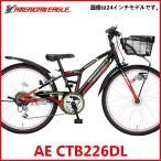 子供用自転車  アメリカンイーグル AE CTB226DL (ブラック/レッド) 4270 AMERICAN EAGLE CTB 226 DL ジュニア マウンテン バイク サギサカ SAGISAKA