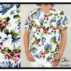 ショッピングアロハシャツ アロハシャツ メンズ 半袖 シャツ 大きいサイズ 花柄 ハイビスカス ボタニカル ハワイ 夏