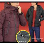 中綿 ジャケット メンズ ジャケット はおり 暖かい フェイク ダウンジャケット ボリュームネック 止水ジップ 秋冬