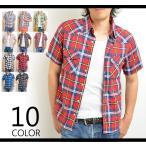 チェックシャツ 半袖 シャツ メンズ 夏 半袖シャツ ウエスタンシャツ 2017春夏 新作