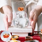( 送料無料 ) 福重ね 鏡餅 橙  鏡餅 オーナメント 置物 飾り 正月 ガラス 石塚硝子 アデリア 誕生日プレゼント