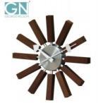 ショッピング壁掛け 壁掛け時計 ジョージ・ネルソン 壁掛時計 インスパイア・クロック ウォルナット GN134WB