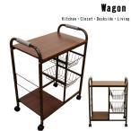 ショッピングワゴン ワゴン カゴ棚付キッチン ミニテーブル キャスター UYS-07