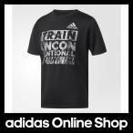 アディダス ウェア トップス 半袖 adidas Boys TRN タイポグラフィック Tシャツ ボーイ アパレル(オリジナルス、サッカー、野球などスポーツカテゴリーのもの