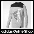 アディダス トップス 長袖 adidas Boys ESS コットンタッチ スーパービッグロゴ長袖Tシャツ