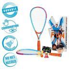 スピードミントンファン バドミントンセット ラケット2本&シャトルセット Speedminton Fun Badminton Set
