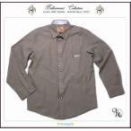 刺繍入りフォーマルに映える高級感ある裏前立て小技を利かせた粋な長袖シャツ(JPBt) 面接 子供服男の子ジュニア ライトブラウン 150-170cm