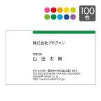 名刺作成 印刷 ビジネス オリジナル DM便送料無料 選べる10色 カラー印刷100枚 テンプレートで簡単作成 初めてでも安心 b029