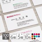 名刺作成 印刷 ビジネス オリジナル 100枚 超シンプル 横型 カラー テンプレートで簡単作成 初めてでも安心 b049 メール便送料無料