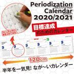 カレンダー2020 ピリオダイゼーションカレンダー 壁掛けワイドサイズ 120cmの大迫力 令和2年 年間 シンプル 壁掛け メール便配送可