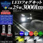 LEDフォグランプ PHILIPSフィリップス 3000ルーメン HB3 HB4 H8 H10 H11 H16 PSX24w PSX26w HIR2(CHRヘッドライトハロゲン車用) ハイビーム イエロー ホワイト