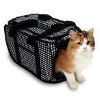 猫用キャリーバッグ 軽量 コンパクト 暴れ防止ネット付 猫壱 黒