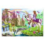 メリッサ&ダグFairy Tale CastleジャンボジグソーFloorパズル( 48?pc、2?x 3フィート)