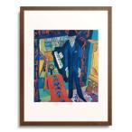 エルンスト・ルートヴィヒ・キルヒナー Ernst Ludwig Kirchner 「Music Room (Portrait of Botho Graf). 1914/26」