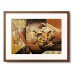 フアン・グリス Juan Gris 「Composition avec montre. (Montre et bouteille de Jerez)」