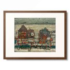 エゴン・シーレ Egon Schiele 「Hauser mit bunter Wasche (Vorstadt II)(Houses with colourful washing (Suburb II)), 1914」