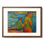 エルンスト・ルートヴィヒ・キルヒナー Ernst Ludwig Kirchner 「Im See badende Madchen' ('Girls bathing in the sea'), 1909」