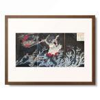 月岡芳年 Tsukioka Yoshitoshi 「日本略史 素戔嗚尊 出雲の簸川上に八頭蛇を退治し給う図」
