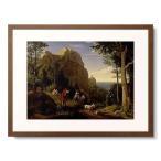 ルートヴィヒ・リヒター Adrian Ludwig Richter 「Tal bei Amalfi mit Aussicht auf die Bucht von Salerno. 1826.」