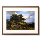 ルートヴィヒ・リヒター Adrian Ludwig Richter 「Bohemian shepherd landscape. 1841」