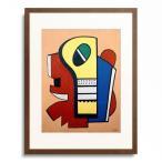 フェルナン・レジェ Fernand Leger 「Komposition auf rotem Hintergrund 1939」