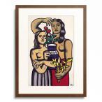 フェルナン・レジェ Fernand Leger 「Two women with a vase of flowers. 1949」