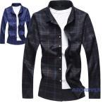 チェックシャツ カジュアルシャツ メンズ 大きいサイズ 長袖シャツ ネルシャツ トップス 新作 ビジネス 送料無料