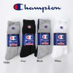 チャンピオン 3足セット ハーフパイル フルレングス ソックス ワンポイントロゴ ソックス 靴下 (メール便送料150円) Champion 3Pac Socks