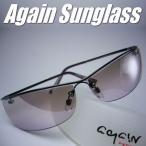 イタリーデザインAGAINサングラス/サングラス メンズ UV 100% カット/ライトカラー