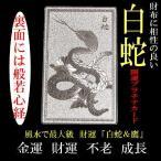 白蛇&鷹「開運プラチナプレート」風水で最強の金運/不老/家庭円満