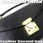VALENTINO MILANバレンチノ・ミラン【エピ柄】牛皮セカンドバッグ★円高還元