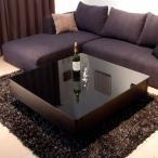 送料無料 幅100 スクエア ブラックガラストップ リビングテーブル / Arly-BK ( センターテーブル ローテーブル ガラステーブル クールモダン ) 新生活