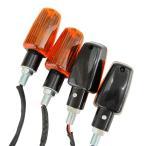 ミニウインカー オレンジxブラック 汎用 4個