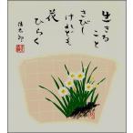 四季を彩る花鳥画色紙ネコポス指定なら送料無料1水仙・冬・吉岡浩太郎