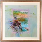 ホアキン トレンツ リャド  マルパスの入り江  絵画 シルクスクリーン 版画 額付き