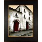 パリ 風景画 絵画 油絵 油彩画 中野克彦 「モンマルトルの小さな美術館・2」 額付き