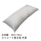 抱き枕  枕 まくら ロングクッション 中身 中材 サイズ43x90cm日本製 妊婦 ロングピロー